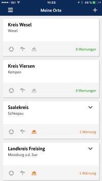 [Translate to German:] NINA App